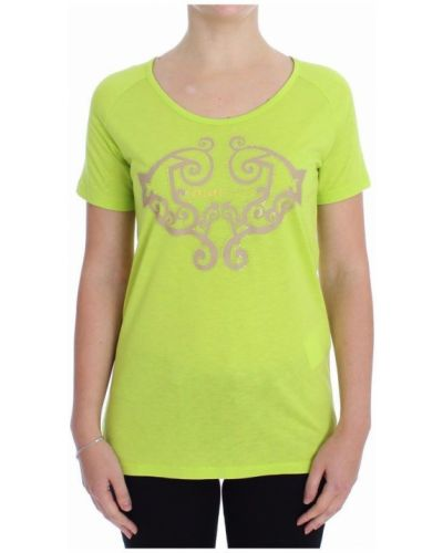 Żółty t-shirt Versace Jeans Couture