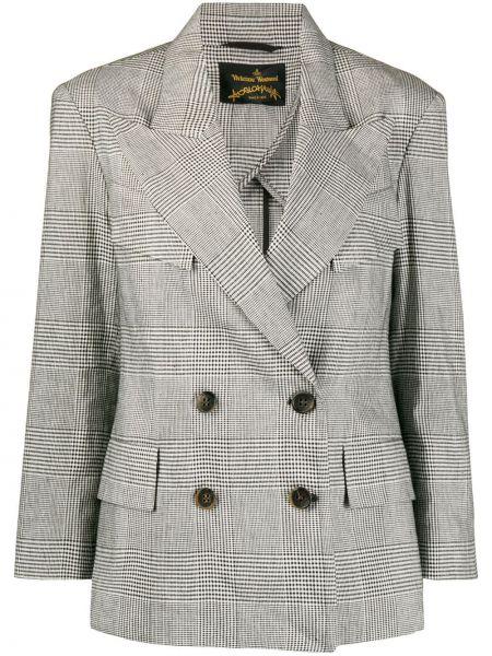 Черный пиджак двубортный с карманами Vivienne Westwood Anglomania