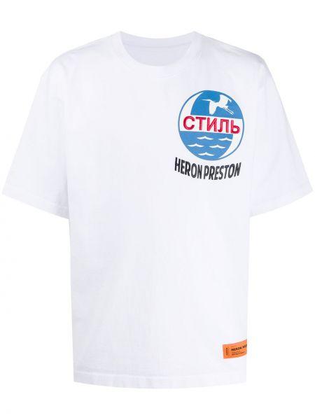 Niebieski bawełna prosto koszula krótkie z krótkim rękawem krótkie rękawy Heron Preston