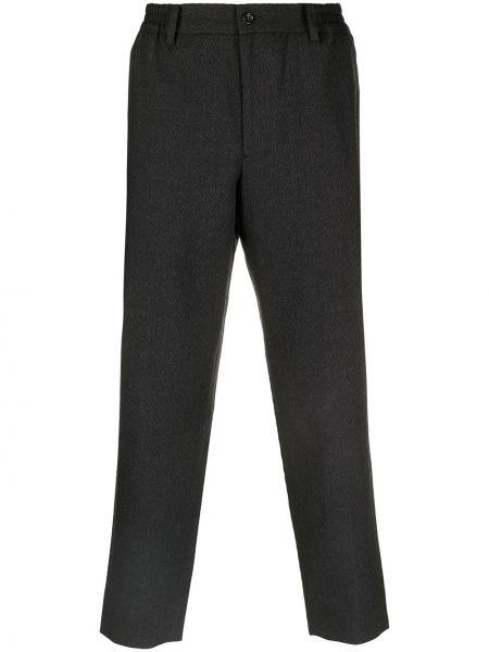 Spodnie w paski wełniane z paskiem Comme Des Garcons Homme Deux