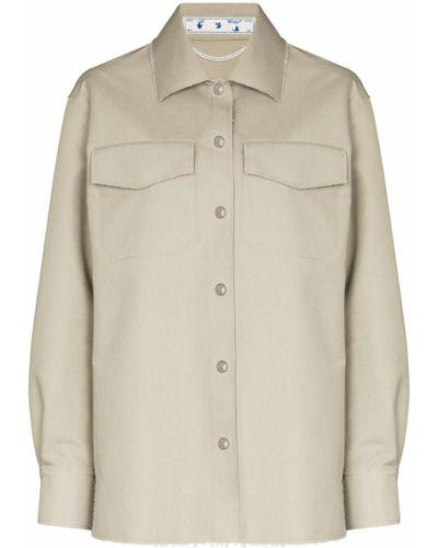 Biała koszula z długimi rękawami - biała Off-white