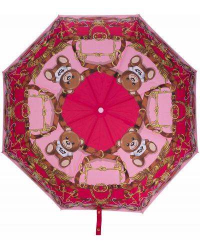 Złoty parasol - różowy Moschino