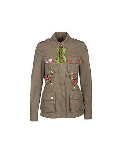 Хлопковый зеленый пиджак History Repeats