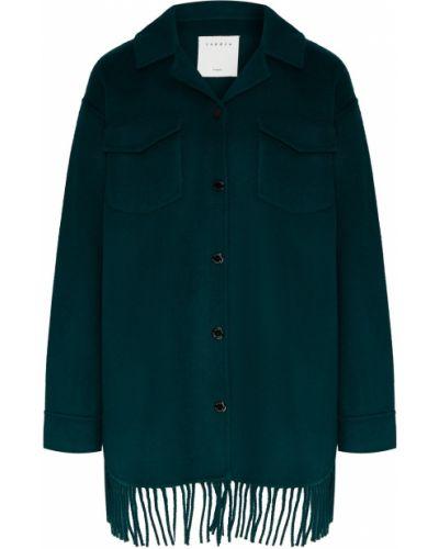 Пальто зеленое пальто-халат Sandro