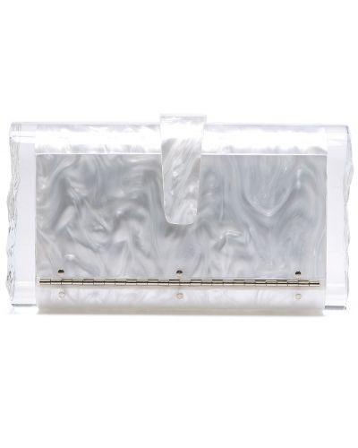 Biała kopertówka elegancka z akrylu Edie Parker
