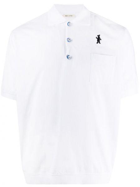 Koszula krótkie z krótkim rękawem z logo z kołnierzem Marni
