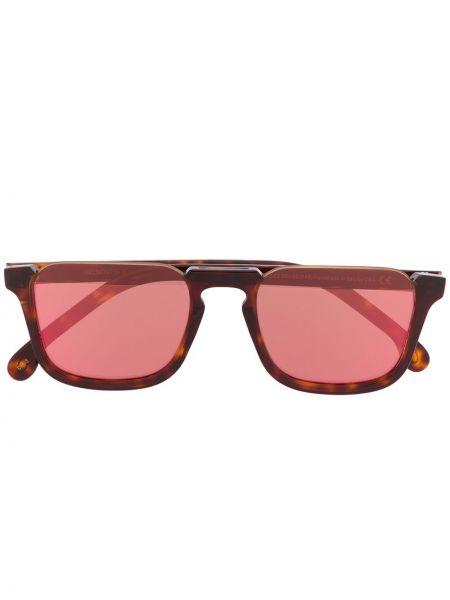 Прямые розовые солнцезащитные очки квадратные с завязками Paul Smith Eyewear