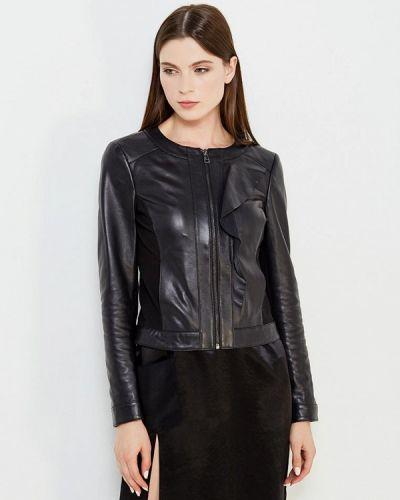 Кожаная куртка черная осенняя Liu Jo Jeans