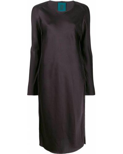 Платье макси с длинными рукавами - коричневое Ilaria Nistri
