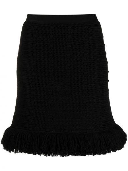 Czarny bawełna bawełna spódnica mini przycięte Bottega Veneta