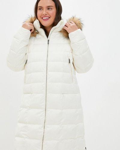 Расклешенная белая свободная зимняя куртка Finn Flare