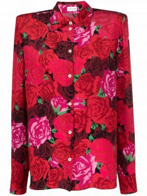 Шелковая рубашка - красная Magda Butrym