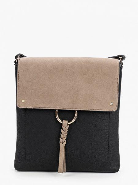 Черная сумка с перьями Marks & Spencer