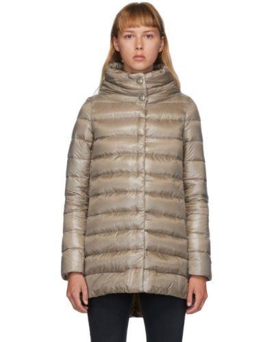 Длинная куртка стеганая нейлоновая Herno