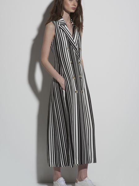 Летнее платье в полоску двубортное Vassa&co