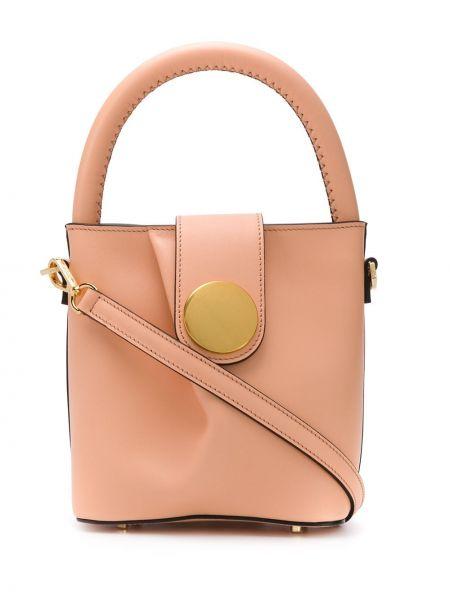Маленькая сумка круглая кожаная Elleme