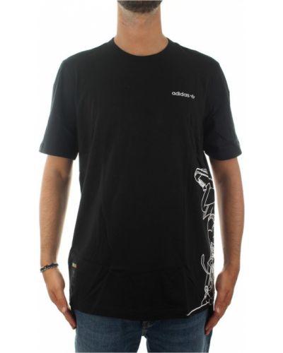 Czarna podkoszulka krótki rękaw Adidas
