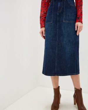 Джинсовая юбка синяя Lauren Ralph Lauren