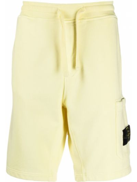 Желтые хлопковые шорты Stone Island