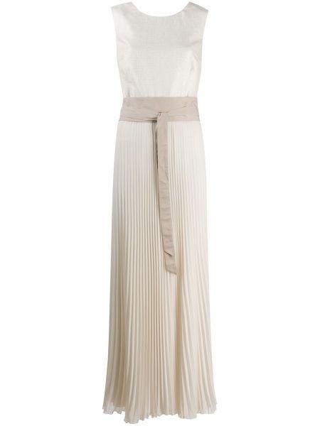 Плиссированное платье с вырезом без рукавов Peserico