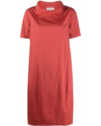Красное платье мини трапеция с вырезом Antonelli