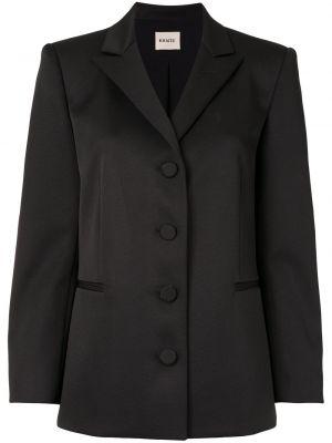 Черный удлиненный пиджак на пуговицах со шлицей Khaite