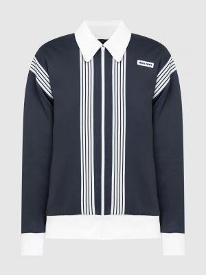 Спортивная куртка - синяя Miu Miu