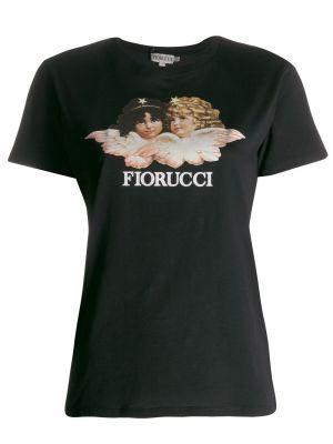 Футболка с принтом - черная Fiorucci