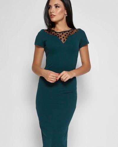 Коктейльное платье осеннее зеленый Karree