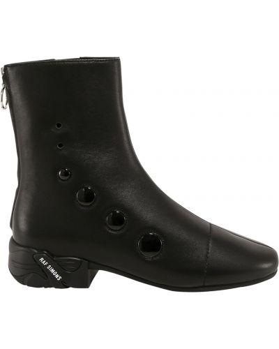 Czarne ankle boots Raf Simons