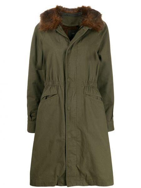 Прямое приталенное длинное пальто из искусственного меха Steffen Schraut