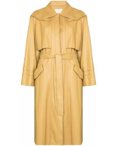 Желтое пальто длинное Low Classic