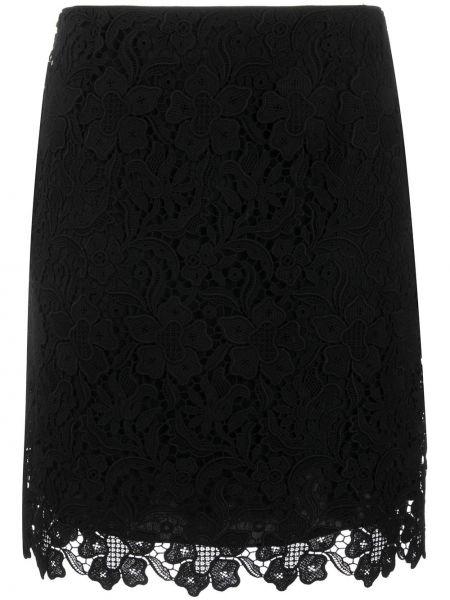 Czarna spódnica mini koronkowa sznurowana Givenchy