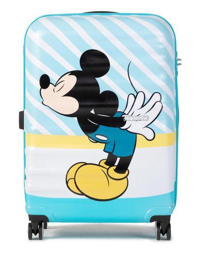Niebieska walizka średnia American Tourister