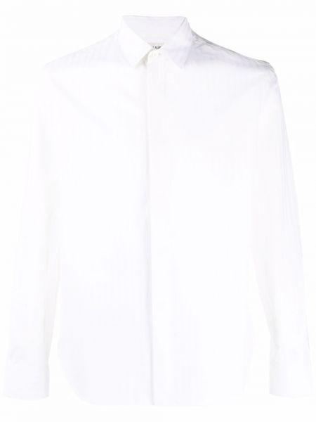 Biała koszula z długimi rękawami - biała Saint Laurent