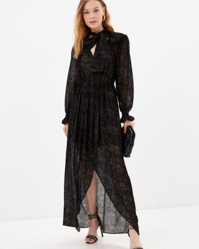 Черное зимнее вечернее платье Silvian Heach