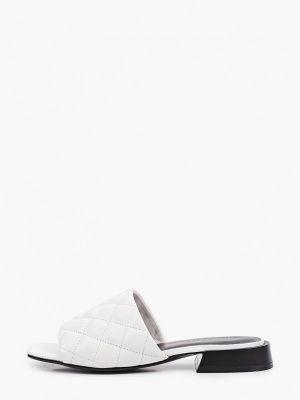 Белые кожаные сабо Tuffoni
