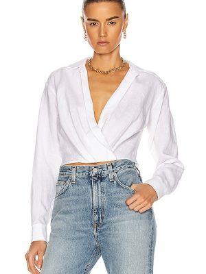 Льняная белая рубашка с воротником Marissa Webb
