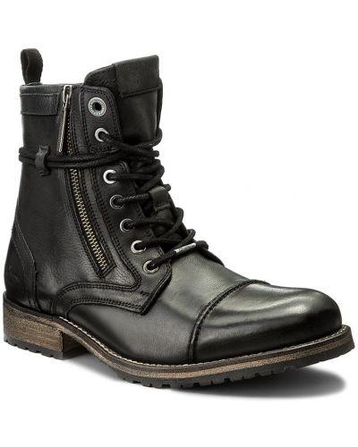 Jeansy z zamkiem błyskawicznym czarny Pepe Jeans