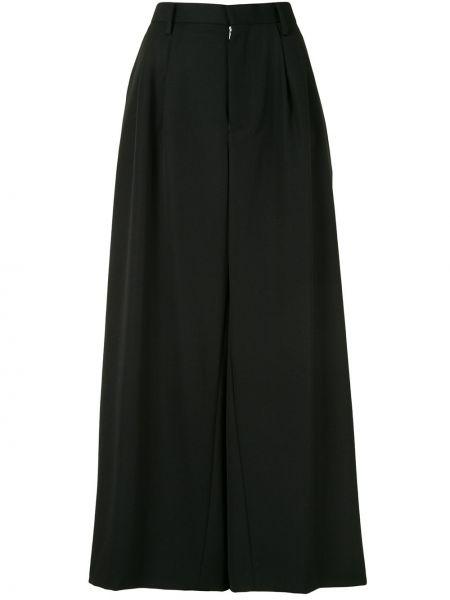 Шерстяные свободные черные свободные брюки свободного кроя Comme Des Garçons Noir Kei Ninomiya