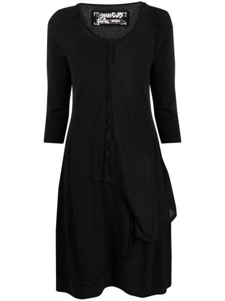 Хлопковое платье - черное Rundholz
