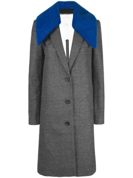 Пальто классическое серое оверсайз Tibi