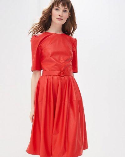 Платье кожаное весеннее Imperial