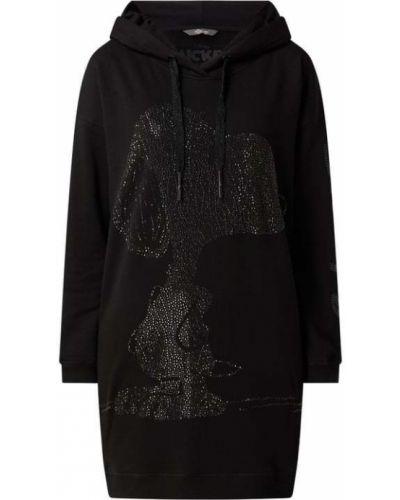 Czarna sukienka z printem Frogbox