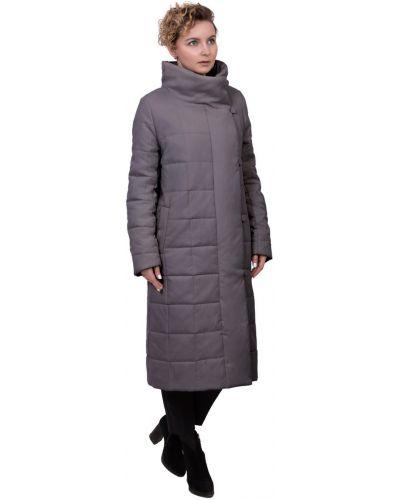 Пальто с капюшоном стеганое с воротником J-splash