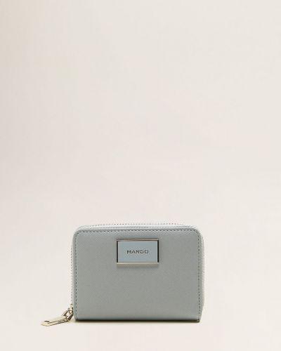 Кожаный кошелек на молнии мини Mango