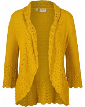 Вязаное желтое вязаное болеро Bonprix