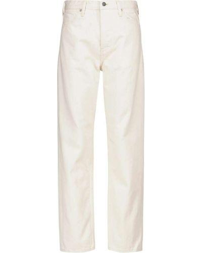 Beżowe jeansy bawełniane Jil Sander