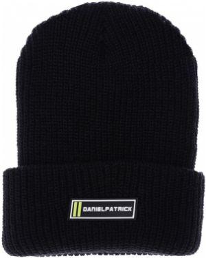 Czarny czapka beanie z akrylu Daniel Patrick