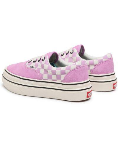 Karmazynowy sneakersy Vans